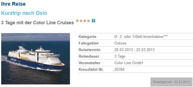 Minikreuzfahrt-Kiel-Oslo-Angebot