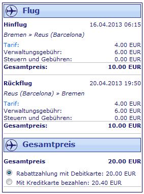 Ryanair Billigticket Bremen Barcelona fuer 10 Euro 2