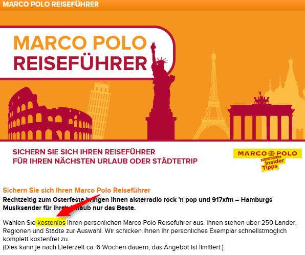 Marco Polo Reiseführer gratis