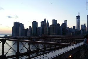 New York Manhattan bei Daemmerung