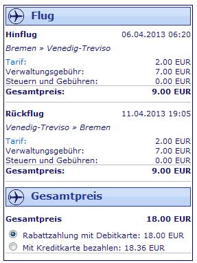 Ryanair Angebot Venedig