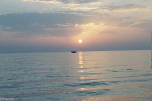 Tunesien Sousse Sonnenuntergang am Strand