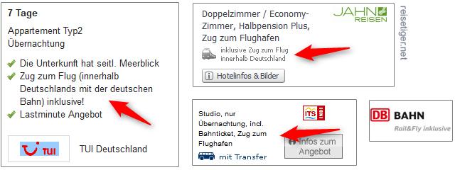 Zug-zum-Flug Angebote db