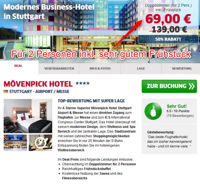 Deal Moevenpick Hotel Stuttgart Airport
