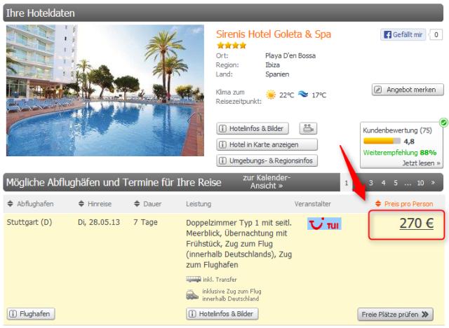 Ibiza Luxus-Partyurlaub Sirenis Hotel Goleta