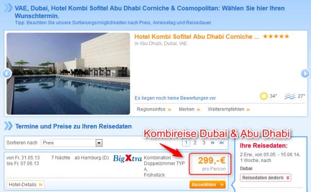 Kombireise Dubai und Abu Dhabi Angebot