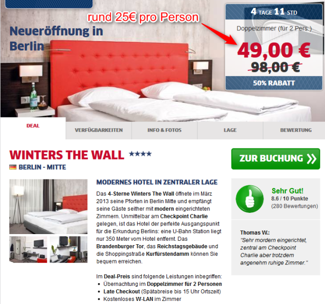 Berlin Deal Winters Hotel The Wall