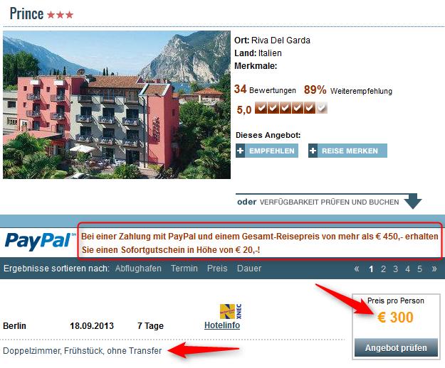 Hotel Prince Gardasee Angebot