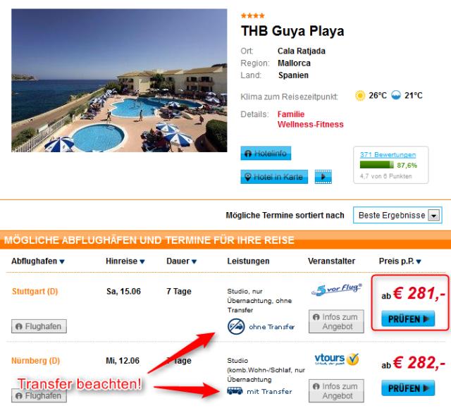 Mallorca Cala Ratjada THB Guya Playa