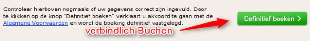 Verbindliche Buchung über Niederländische Website