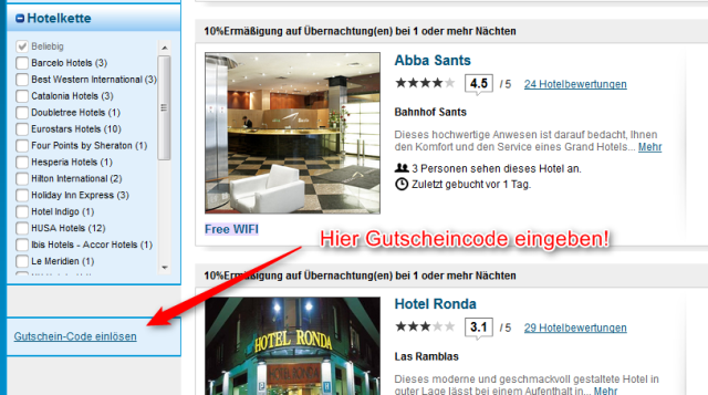 ebookers Gutscheincode Hotels