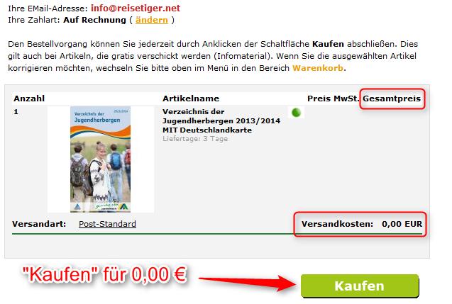DJH Herbergsführer kostenlos kaufen