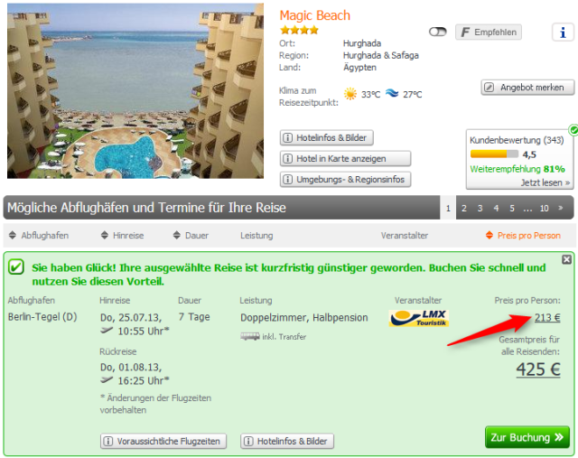 Magic Beach Ägypten Lastminute