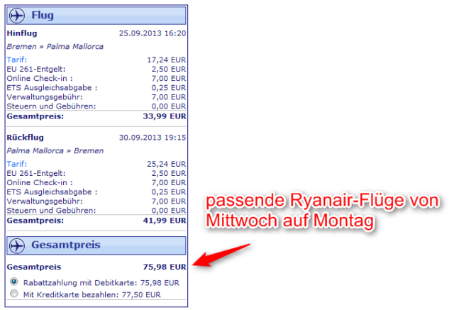 Ryanair-Flüge ab Bremen Mallorca-Deal