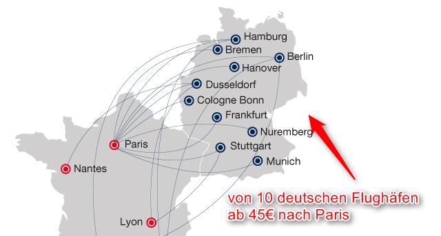 Abflughaefen-Deutschland-Frankreich-Paris