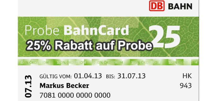 Probebahncard25