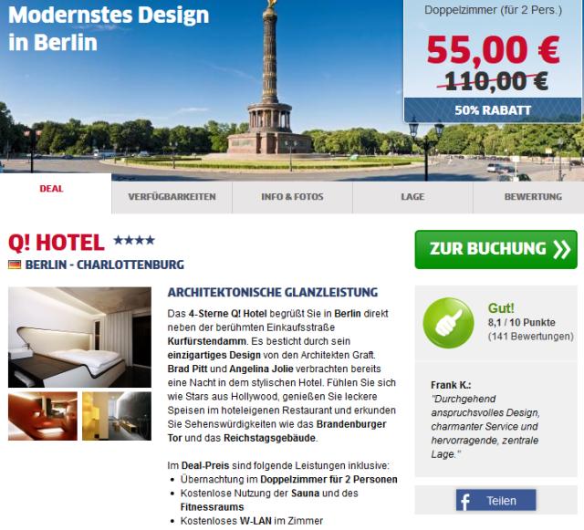 Q-Hotel Berlin Deal