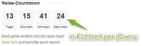 Reiseblog Reise-Countdown in der Sidebar 2
