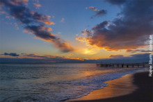 Tuerkei-Strand-Sonnenuntergang