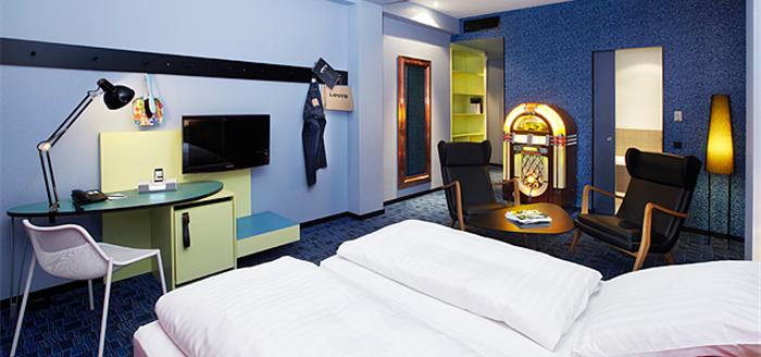 25hours levis Hotel Frankfurt Zimmer