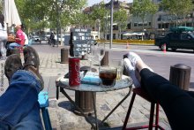 Barcelona-Caffee-am-Stadtzentrum