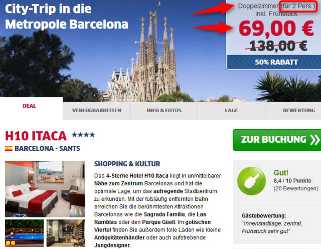 Barcelona Winter Deal Hotel H10 Itaca