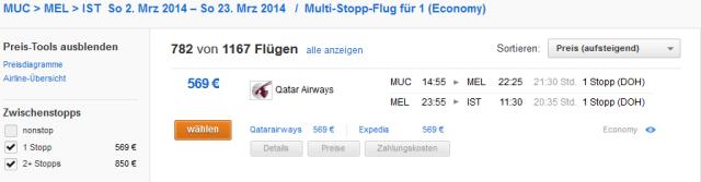 melbourne-flug-qatar