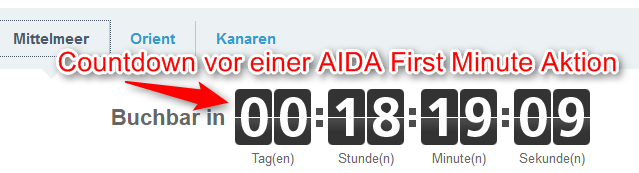 Countdown-vor-AIDA-First-Minute