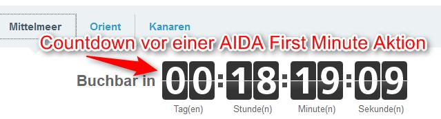 Countdown-vor-AIDA-First-Minute