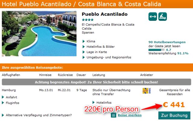 Spanien-Hotel-Pueblo-Acantilado-Angebot