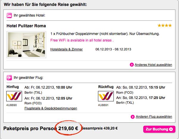 Nikolaustrip nach rom in ein design hotel inkl flug 219 for Last minute design hotel