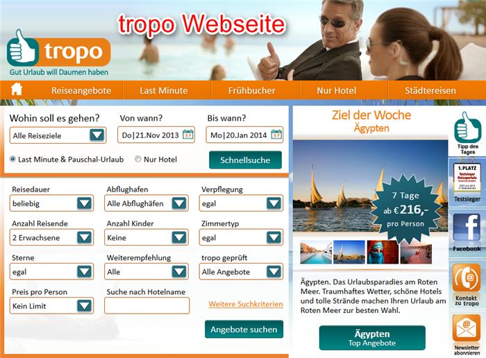 tropo-reisebuchung-webseite