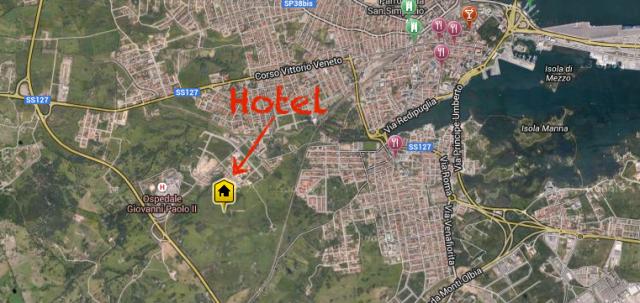 Hotel-Hilton_Sardinien_Karte