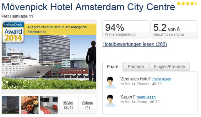 st dtetrip m venpick hotel amsterdam mit fr hst ck f r 99. Black Bedroom Furniture Sets. Home Design Ideas