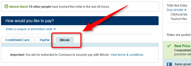 mit bitcoin zahlen