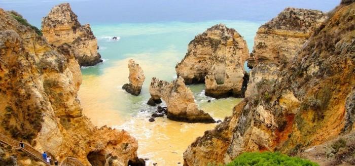 Algarve Strand Felsen Meer