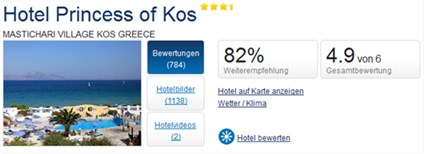 Holidaycheck Kos Princess of Kos Bewertung