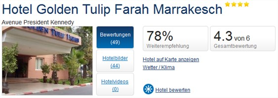 Holidaycheck Marrakesch Golden Tulip