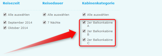 Kreuzfahrt-Balkonkabine