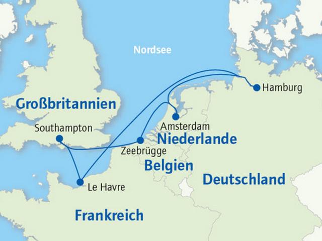 Kreuzfahrt-Route