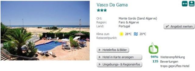 Tropo Faro Vasco Da Gama
