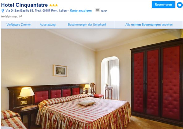 Booking Rom Cinquantatre