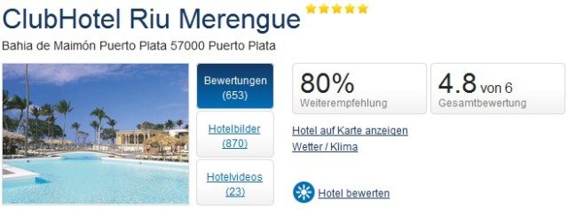 Holidaycheck DomRep RIU Merengue