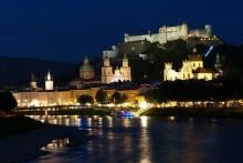 Salzburg Nacht Fluss