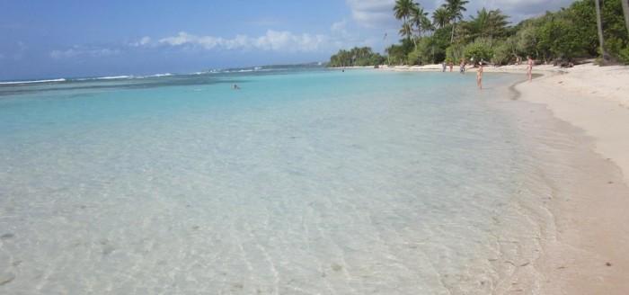 Guadeloupe Karibik Strand Meer Palmen
