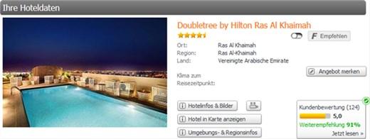 Weg.de Doubletree by Hilton Ras Al Khaimah