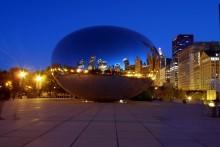 Chicago Chicago-Bohne, Nacht Skyline