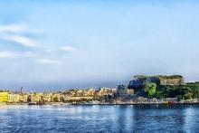 Griechenland_Korfu_Bucht_Meer_Hafenstadt