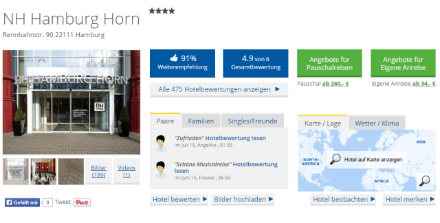 HolidayCheck NH Hamburg Horn