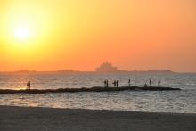 Vereinigte_Arabische_Emirate_Dubai_Meer_Sonnenuntergang